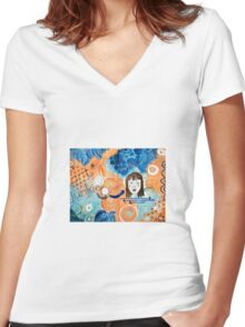 Art Junkie Women's Fitted V-Neck T-Shirt