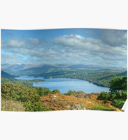 Windermere from Stott Park Heights Poster
