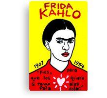 Frida Kahlo Pop Folk Art Canvas Print