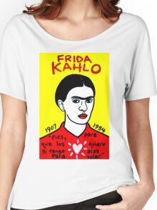 Frida Kahlo Pop Folk Art Women's Relaxed Fit T-Shirt