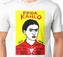 Frida Kahlo Pop Folk Art Unisex T-Shirt