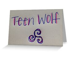 Teen Wolf  Greeting Card