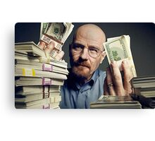 walter white gettin money Canvas Print