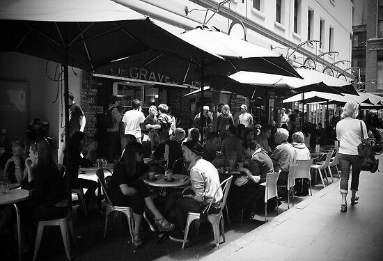 Lunch with friends at Degraves Espresso, Melbourne by Elana Bailey