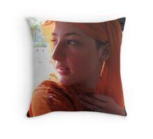 India Girl Throw Pillow
