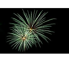Double Green Large Fireworks Photographic Print