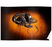 DJ Headphones Poster