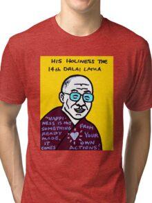 Dalai Lama Pop Folk Art Tri-blend T-Shirt