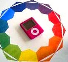 mp4 player at center of color wheel. by jankevin04
