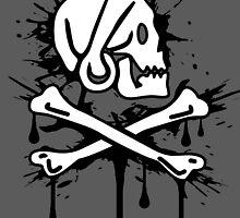 Long Ben Pirate Flag (Splatter) by WondraBox
