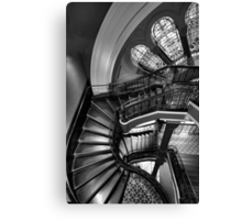 Off The Rails  (Monochrome) - QVB , Sydney - The HDR Experience Canvas Print