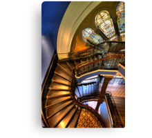 Off The Rails - QVB , Sydney - The HDR Experience Canvas Print