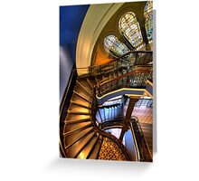 Off The Rails - QVB , Sydney - The HDR Experience Greeting Card