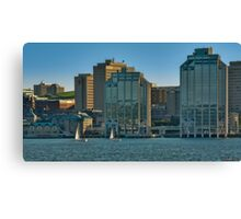 Twin Purdy Towers of Halifax Canvas Print