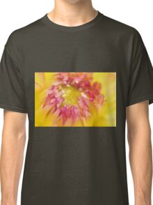 Pink and Yellow Dahlia, As Is Classic T-Shirt