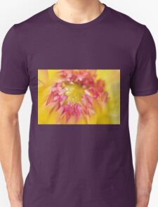 Pink and Yellow Dahlia, As Is Unisex T-Shirt
