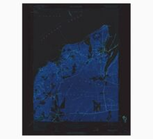 Massachusetts  USGS Historical Topo Map MA Vineyard Haven 350664 1951 24000 Inverted One Piece - Short Sleeve