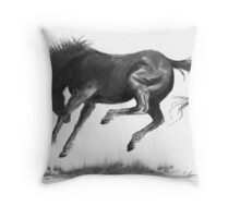 Horse and Dust Throw Pillow