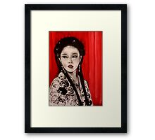 Exotica with Red Curtain    Framed Print