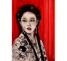 Exotica with Red Curtain    Photographic Print