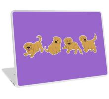 Golden Retriever Puppy Pattern - Purple Laptop Skin