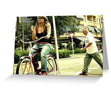 Bicycles races are coming your way... Greeting Card