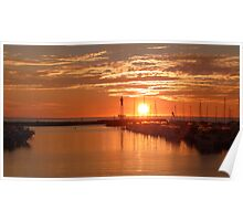 Sunset over Hillarys Boat Harbour Poster