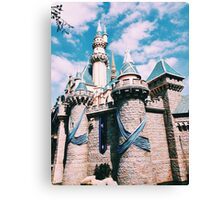 Disneylands Castle For The 60th Canvas Print