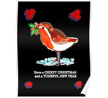 CHIRPY CHRISTMAS Greeting card/Poster Poster