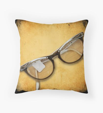 Flea Market Eyeglasses Throw Pillow