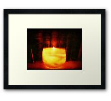Candle Glow ©  Framed Print