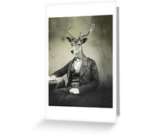 Distinguished Deer Greeting Card