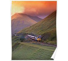 BR Class 37 West Highlander  Poster