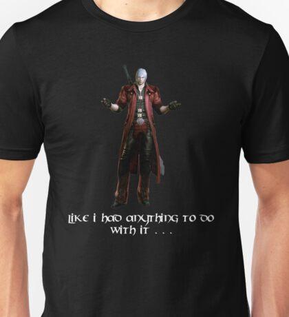 Dante's Reaction To DmC Unisex T-Shirt