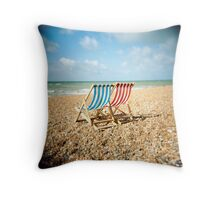 Deckchairs Throw Pillow