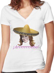 ¡Arrrrrrreba! Women's Fitted V-Neck T-Shirt