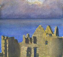 Approaching Storm, Dunluce Castle by Les Sharpe