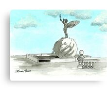 Daily Doodle 28- En Plein Air - Jacksonville Memorial Park Canvas Print