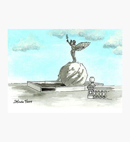 Daily Doodle 28- En Plein Air - Jacksonville Memorial Park Photographic Print
