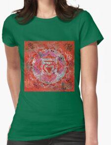 First Chakra Mandala Womens Fitted T-Shirt