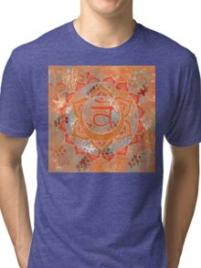 Second Chakra Mandala Tri-blend T-Shirt