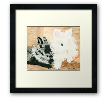 Daily Doodle 22- Together - Lionheads Lola and Vito Framed Print