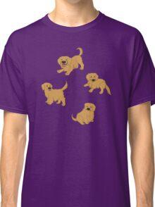 Golden Retriever Puppy Pattern - Purple Classic T-Shirt