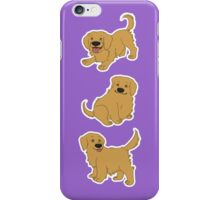 Golden Retriever Puppy Pattern - Purple iPhone Case/Skin
