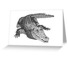 Flowery Jungle - CROCODILE Greeting Card