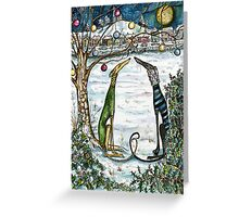 A Little Magic Moment at Christmas Greeting Card