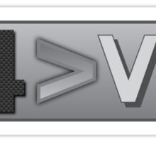 I4 Better Than V8 Inline 4 > V8 Sticker