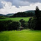 Along the Green.    Ballater golf course Scotland by Karen  Betts