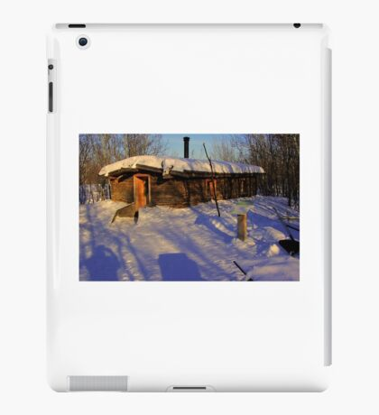 Pioneer Sod House (winter view) iPad Case/Skin