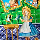 Alice in wonderland, drink me painting by gordonbruce